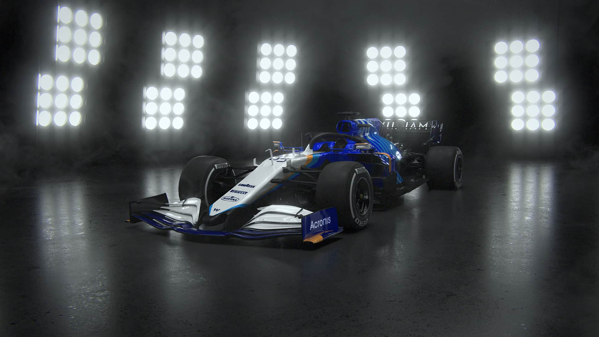2021 Williams FW43B Launch Photo side front Photo Williams F1