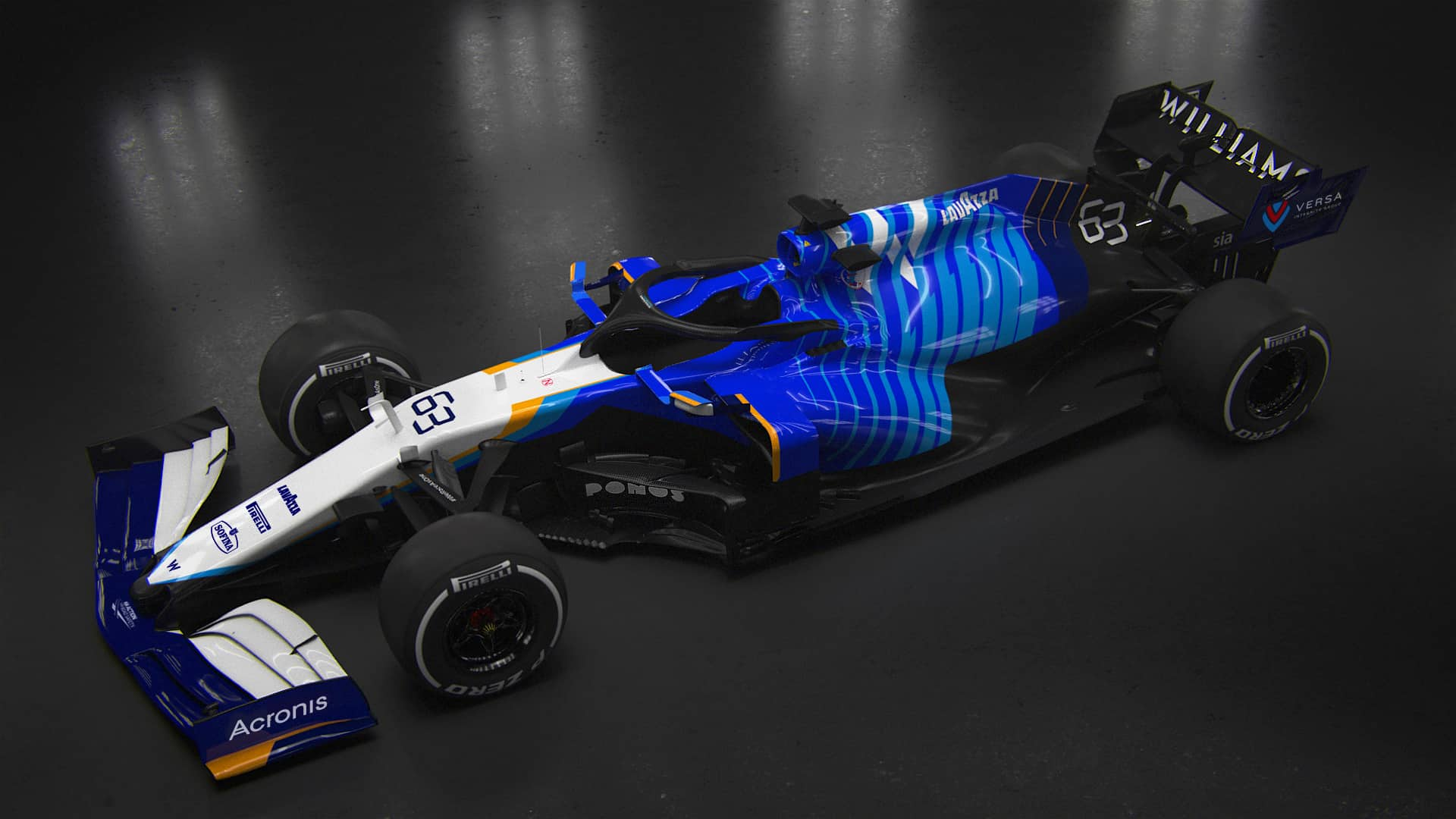 2021 Williams FW43B Launch Photo side top Photo Williams F1