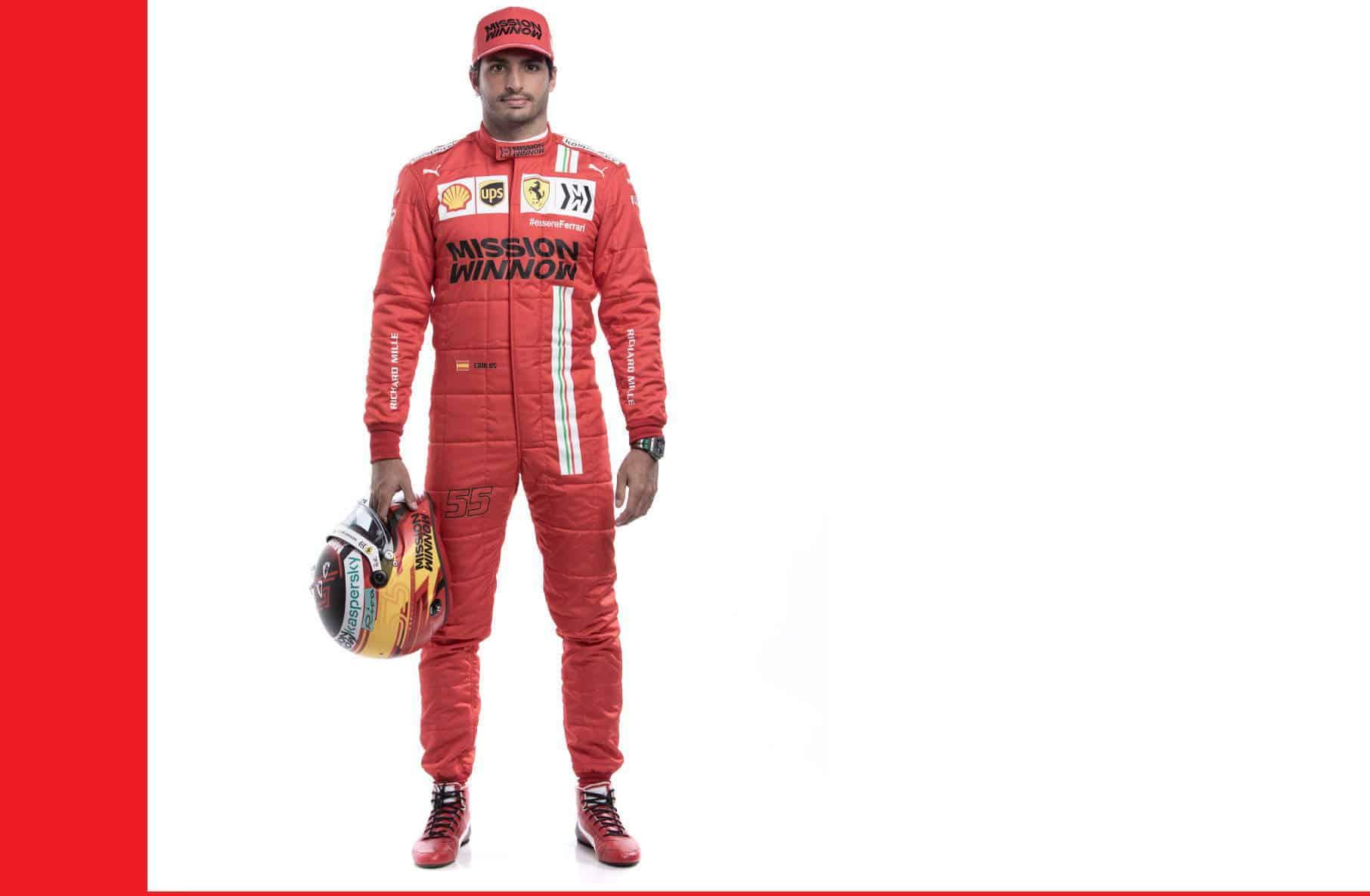 Carlos Sainz Ferrari F1 2021 new Photo Ferrari Edited by MAXF1net