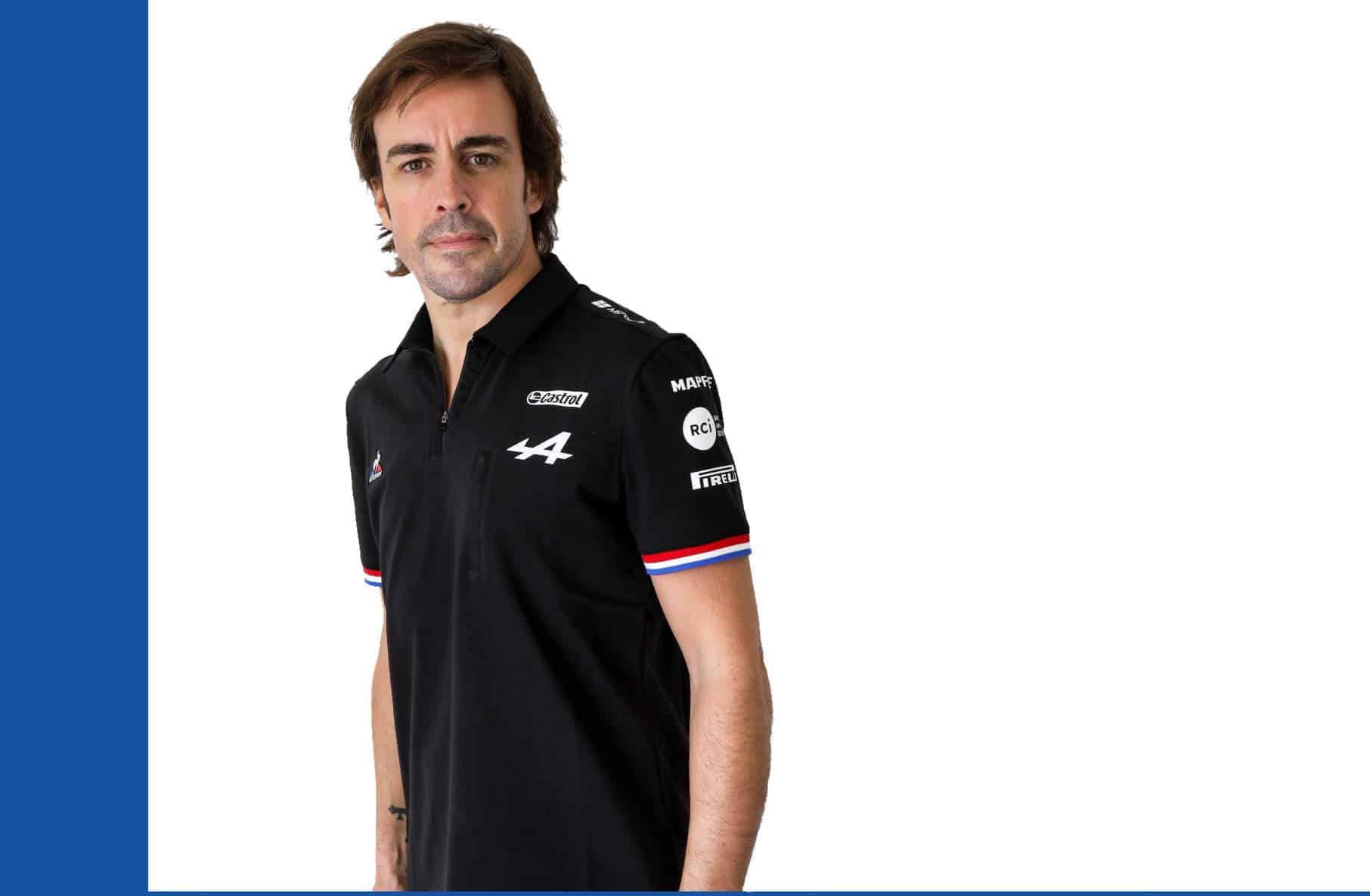 Fernando Alonso 2021 F1 Alpine studio photo Edited by MAXF1net Photo by Alpine Renault