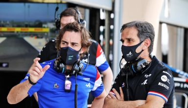Fernando Alonso Davide Brivio Alpine F1 Bahrain test 2021 Photo Alpine