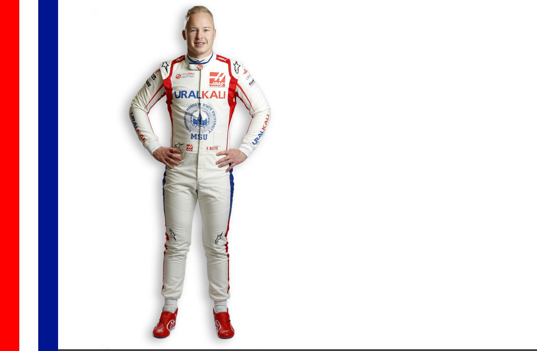 Nikita Mazepin F1 2021 profile picture full size new colours Photo Haas F1 Team Edited by MAXF1net