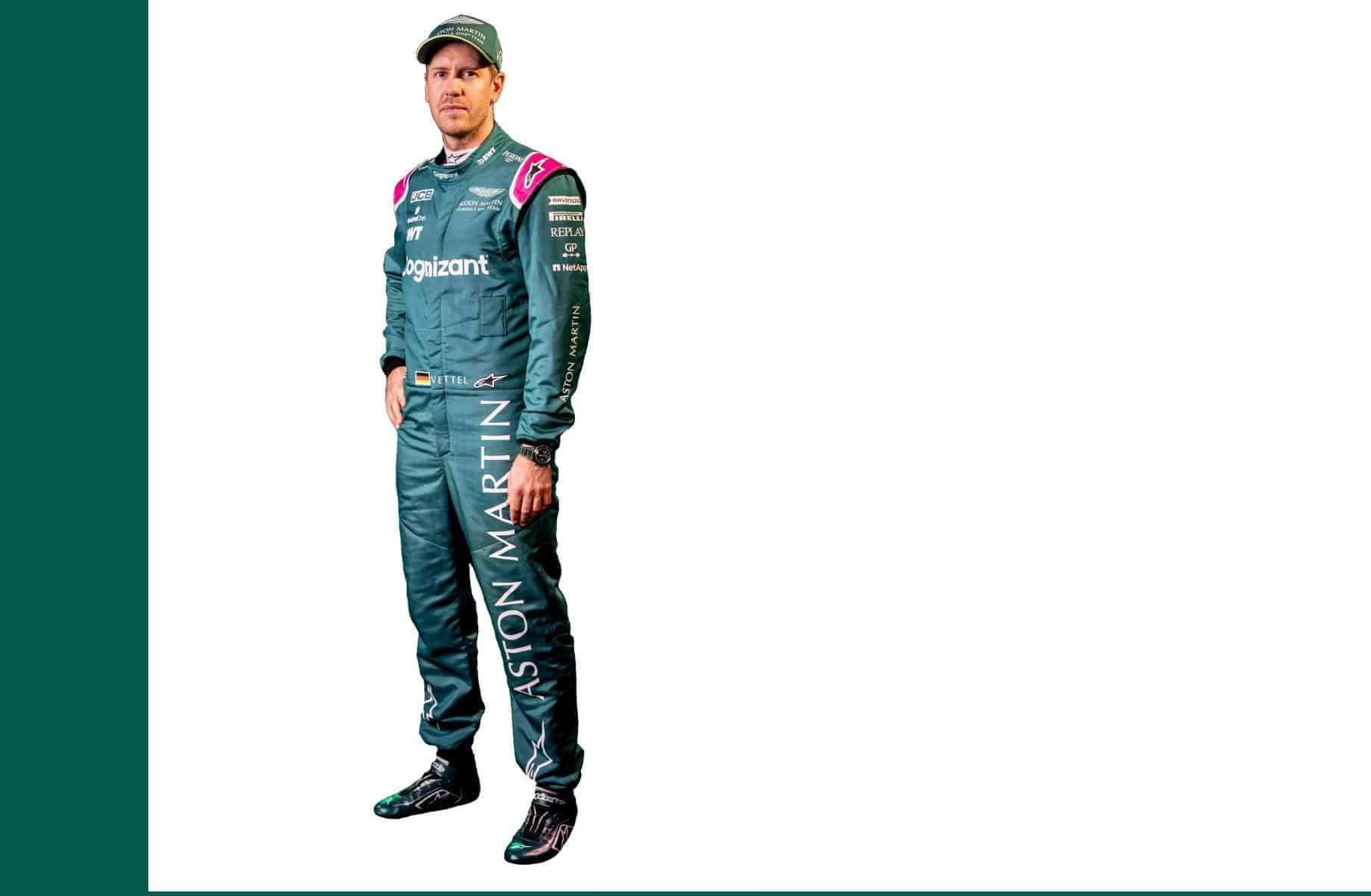Sebastian Vettel F1 2021 profile picture full size white Photo Aston Martin Edited by MAXF1net