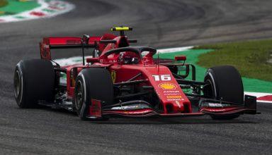 2019 Italian GP Leclerc Ferrari SF90 Ascari chicane Photo Ferrari