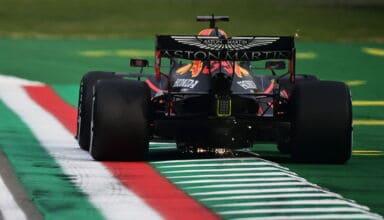2020 Emilia Romagna GP Verstappen exit kerb Photo Red Bull