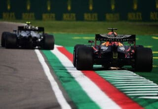 2020 Emilia Romagna GP Verstappen follows Bottas Photo Red Bull