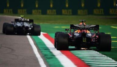 2020 Emilia Romagna GP Verstappen follows Bottas Photo Red Bull