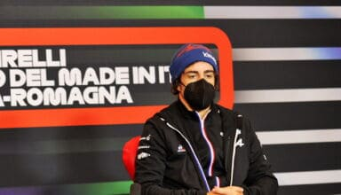 2021 Emilia Romagna GP Alonso Alpine press conference Thursday Photo Alpine