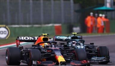 2021 Emilia Romagna GP Perez battles Vettel Photo Red Bull