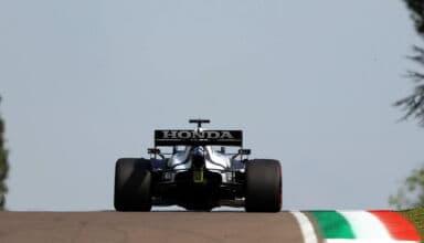 2021 Emilia Romagna GP Tsunoda AlphaTauri AT02 rear end Photo Red Bull