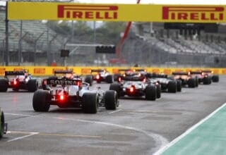 2021 Emilia Romagna GP start rear view Photo Pirelli