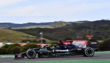 2021 Portuguese GP Hamilton Mercedes hard Pirelli C1 Photo Daimler