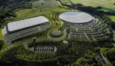 McLaren Technology Centre MTC top view Photo McLaren