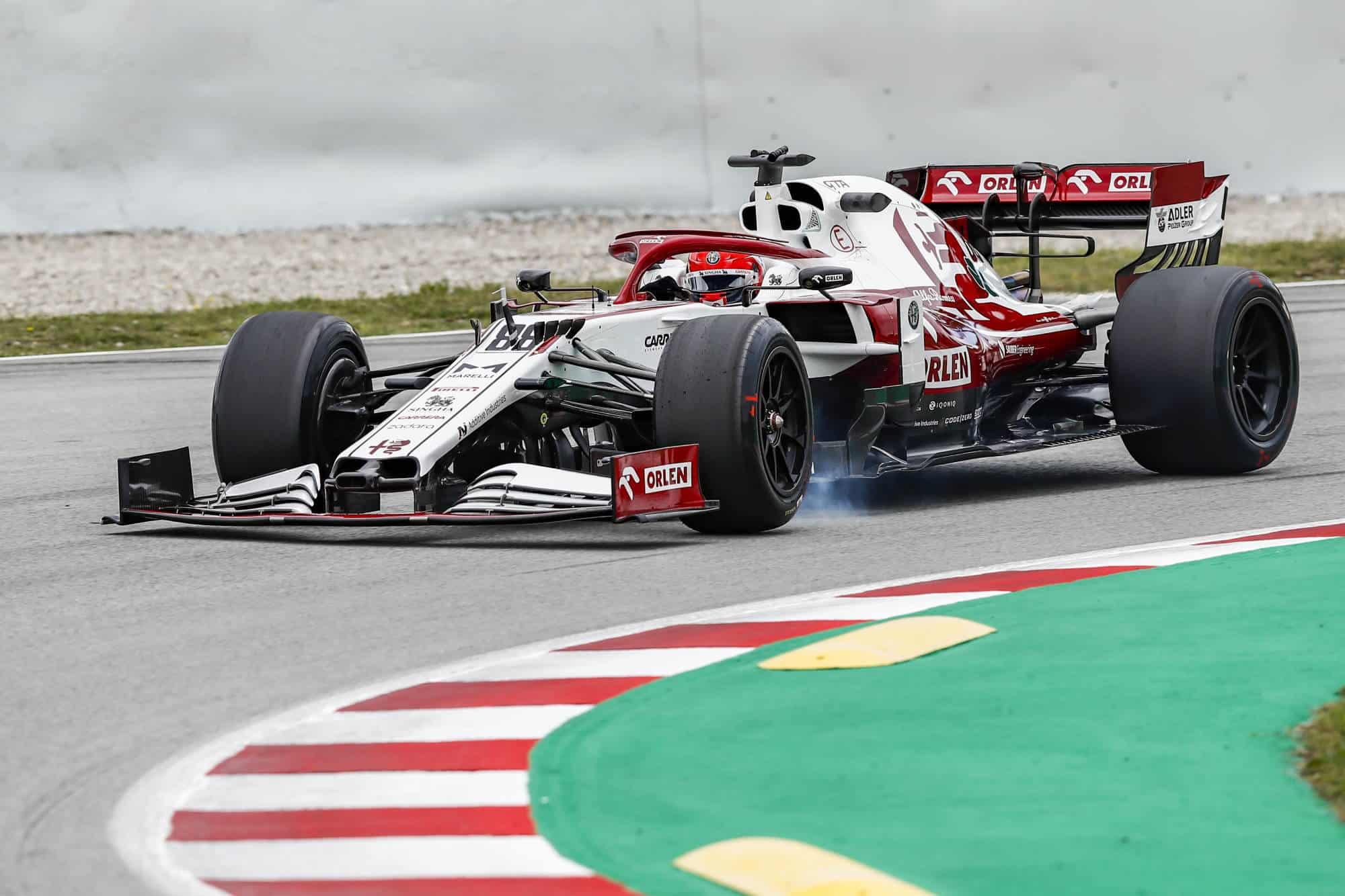 2021 In-Season Test - Spain Kubica Alfa Romeo C39 18-inch Pirelli tyres Photo Alfa Romeo
