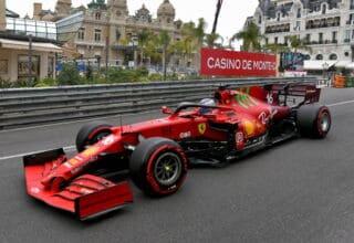 2021-Monaco-GP-Leclerc-Ferrari-Saturday-side-shot-soft-C5-Pirelli-Photo-Ferrari