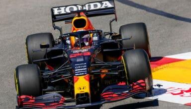 2021 Monaco GP Verstappen Red Bull chicane FP3 Photo Red Bull