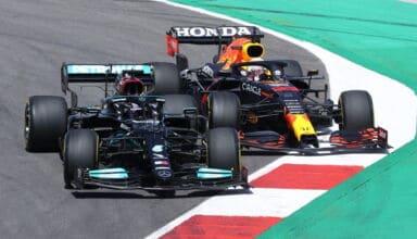 2021 Portuguese GP Hamilton battles Verstappen Photo Daimler