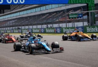 2021 Portuguese GP Ocon at the start of the race Photo Alpine