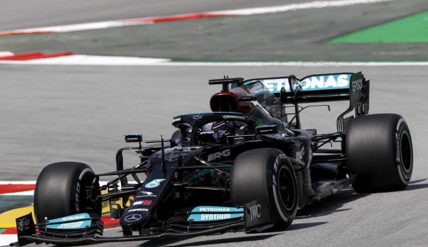 2021 Spanish GP Hamilton Mercedes Friday Photo Daimler