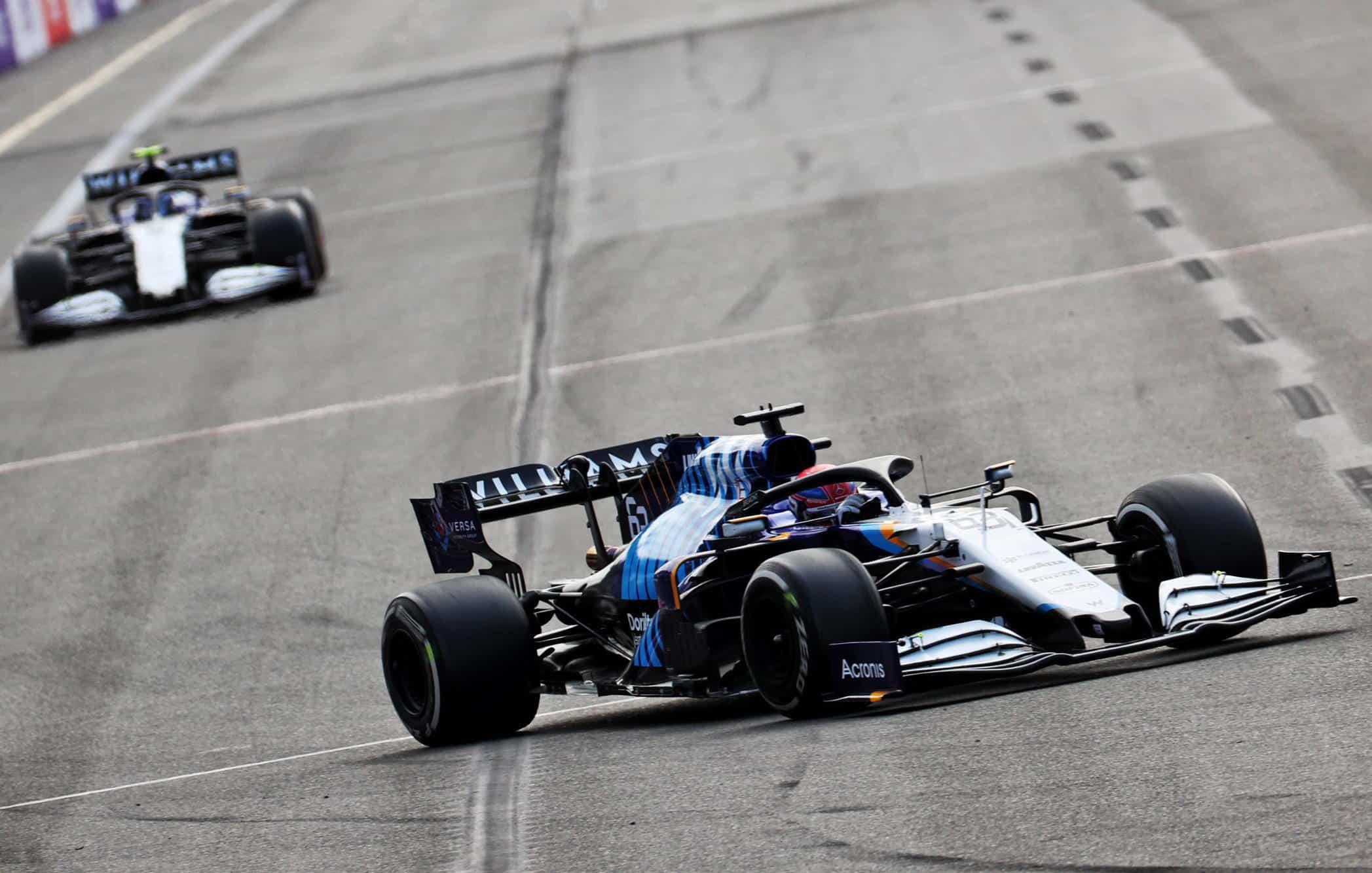 2021 Azerbaijan GP Russell leads Latifi race Photo Williams