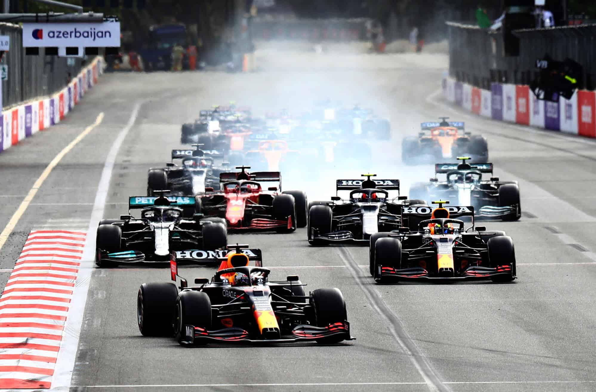 2021 Azerbaijan GP start Photo Red Bull