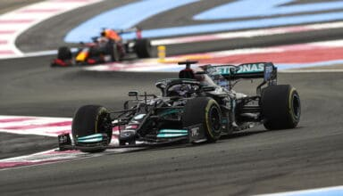 2021 French GP Hamilton leads Verstappen in the race Photo Daimler