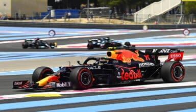 2021 French GP Perez Vettel Hamilton Friday Photo Pirelli