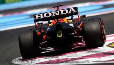2021 French GP Verstappen Red Bull Honda RB16B rear end FP1 Photo Red Bull