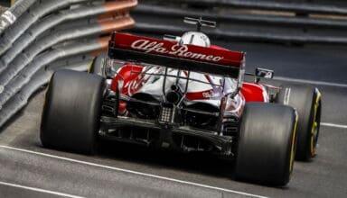 2021 Monaco GP Raikkonen Alfa Romeo rear end rear wing Photo Alfa Romeo