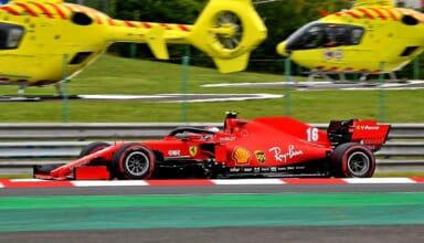 2020 Hungarian GP Leclerc Ferrari SF1000 Saturday Photo Ferrari