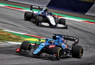 2021 Austrian GP Alonso leads Latifi Photo Alpine
