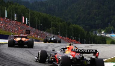 2021 Austrian GP Gasly leads Ricciardo and Perez Photo Red Bull