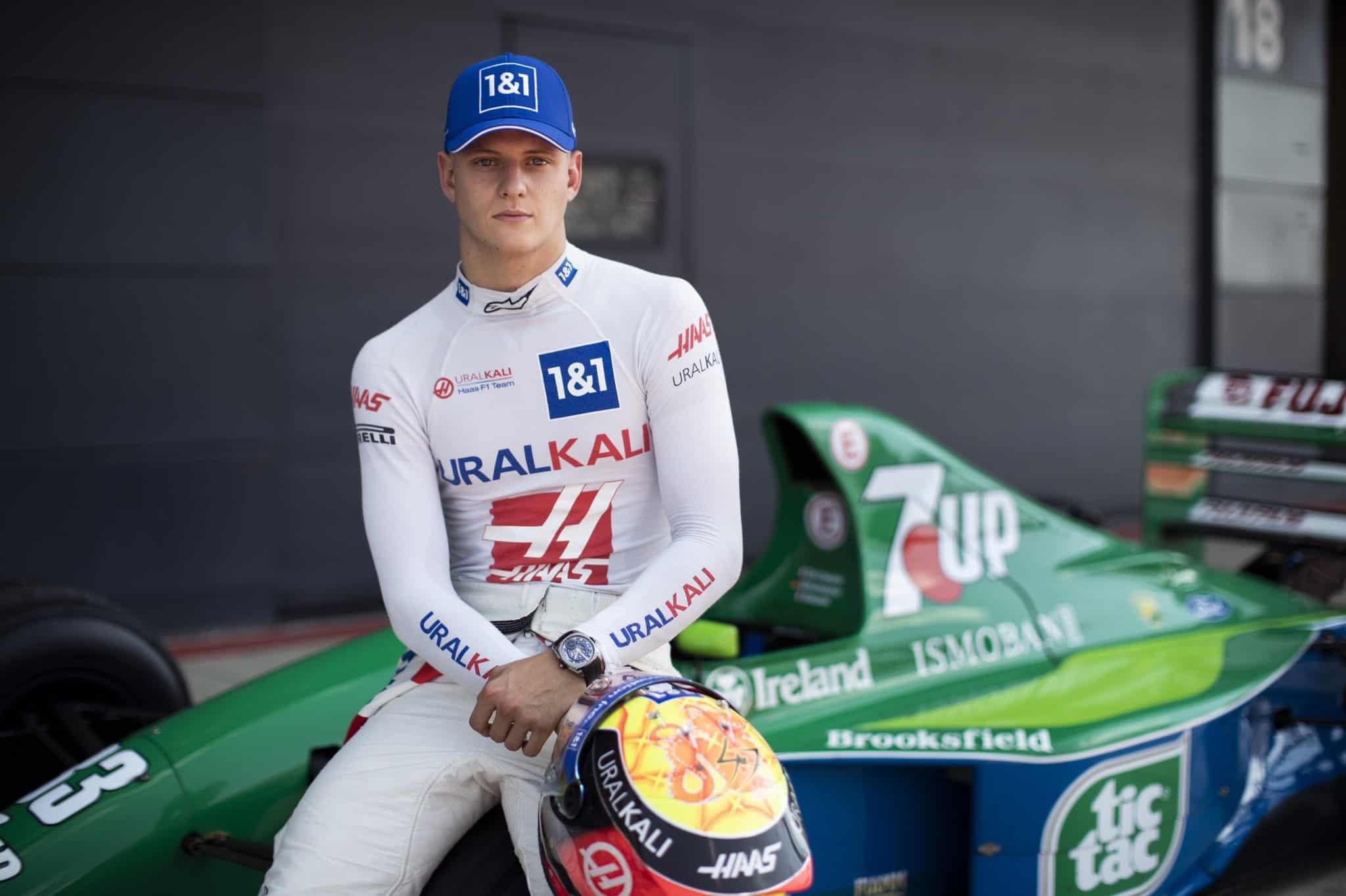 2021 British GP Mick Schumacher Jordan 191 Photo Haas