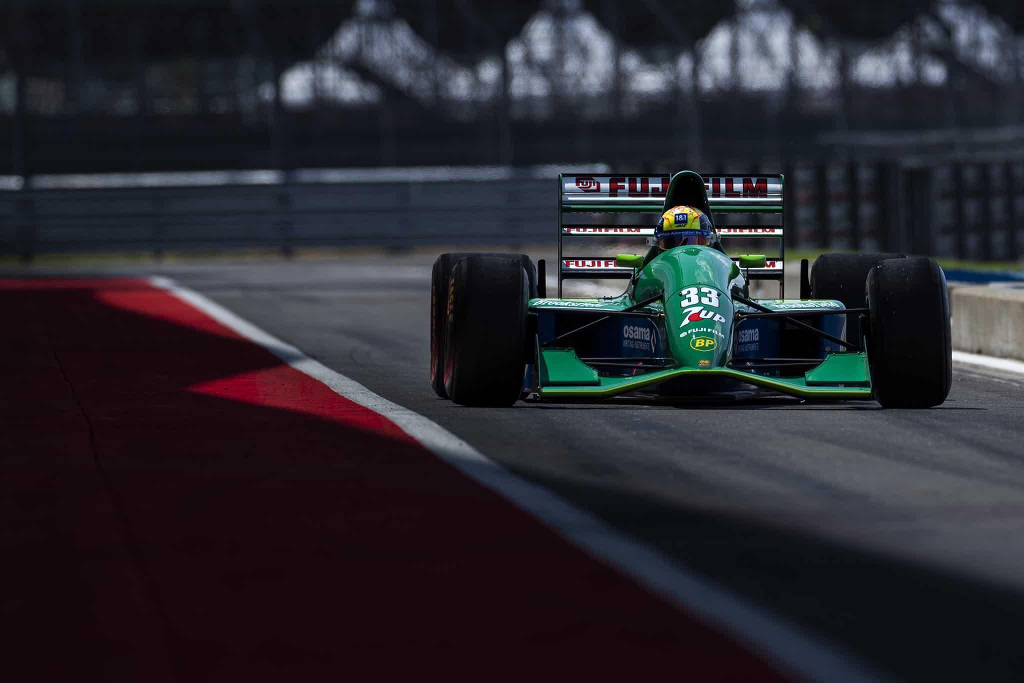 2021 British GP Mick Schumacher Jordan 191 on track Photo Haas