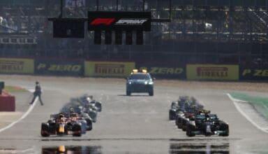 2021 British GP Qualifying sprint start Photo Pirelli