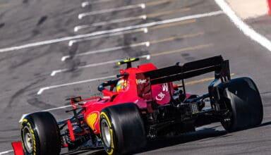 2021 British GP Sainz Ferrari SF21 rear end Photo Ferrari