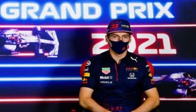 2021 British GP Verstappen Red Bull Thursday Press Conference Photo Red Bull