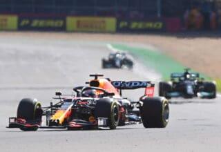 2021 British GP Verstappen Red Bull leads Hamilton and Bottas Sprint Qualiying Photo Red Bull