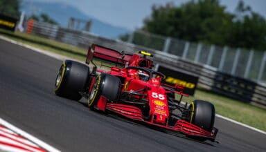 2021 Hungarian GP Sainz Ferrari SF21 Medium Pirelli Photo Ferrari