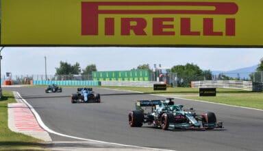 2021 Hungarian GP Vettel leads Alonso Photo Pirelli