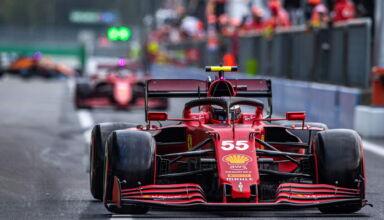 2021-Azerbaijan-GP-Sainz-and-Leclerc-Ferrari-Photo-Ferrari