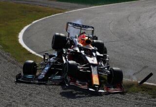 2021 Italian GP Hamilton and Verstappen colide crash Photo Daimler