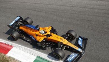 2021 Italian GP Ricciardo McLaren Parabolica - new Alboreto corner Photo McLaren