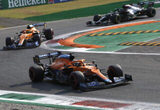 2021 Italian GP Saturday Ricciardo Norris Hamilton Photo McLaren