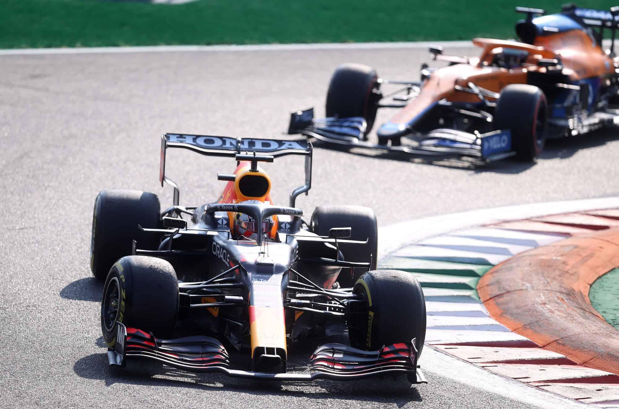 2021 Italian GP Verstappen leads Ricciardo Photo Red Bull