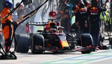 2021 Italian GP Verstappen slow pitstop Photo Red Bull