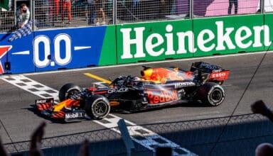 2021 Netherlands GP Verstappen Red Bull crosses the finish line Photo Red Bull