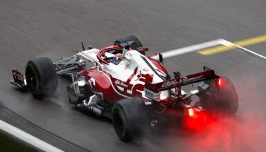 2021 Russian GP Raikkonen Alfa Romeo wet Intermediate Pirelli F1 Tyre Photo Pirelli