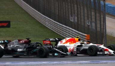 2021 Turkish GP Hamilton battles Perez race Photo Daimler