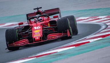 2021 Turkish GP Leclerc Ferrari intermediate Photo Ferrari